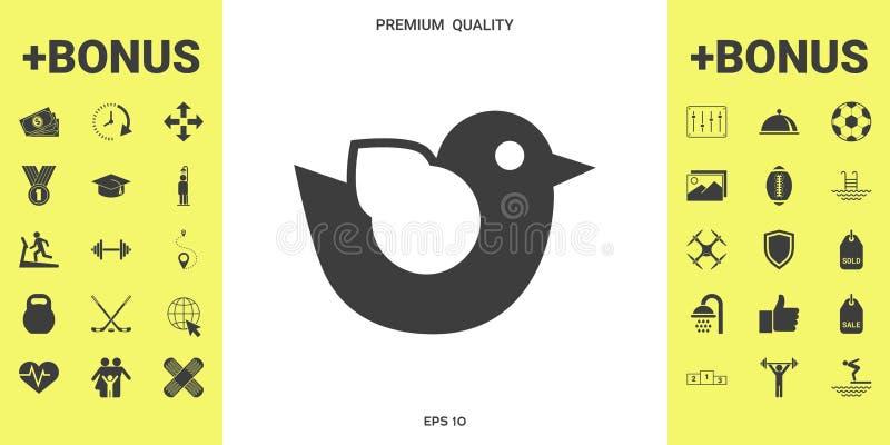 Het pictogram van het vogelsymbool royalty-vrije illustratie