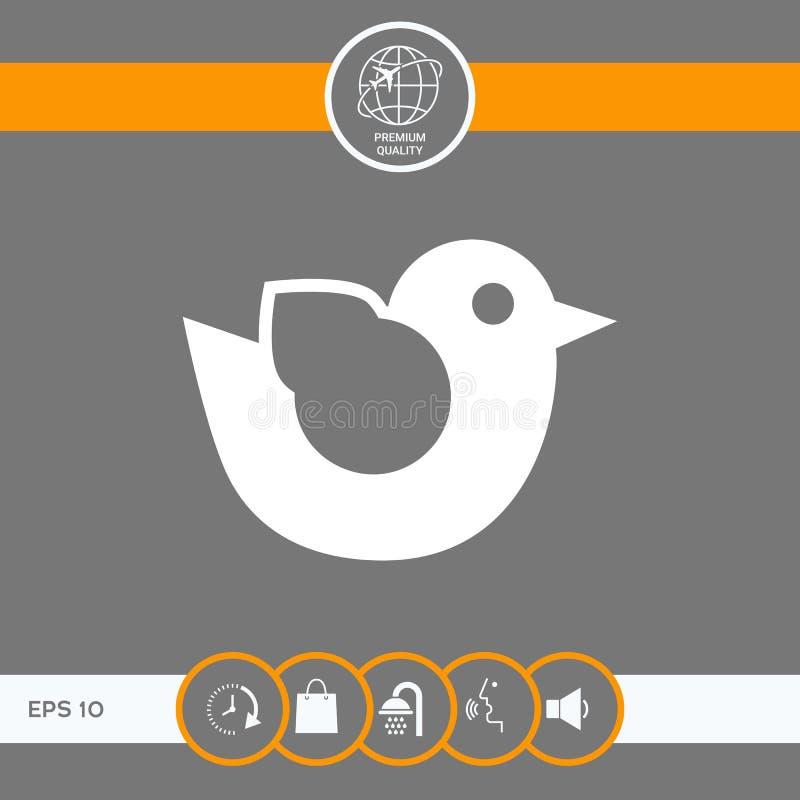 Het pictogram van het vogelsymbool vector illustratie