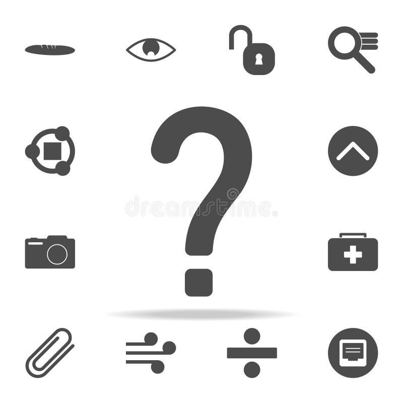 Het pictogram van het vraagteken voor Web wordt geplaatst dat en het mobiele algemene begrip van Webpictogrammen vector illustratie
