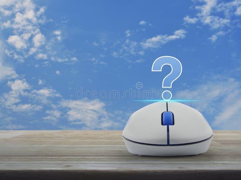Het pictogram van het vraagtekenteken, de Zakelijke klantdienst en steun online concept vector illustratie