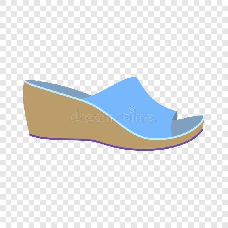 Het pictogram van vrouwenpantoffels, vlakke stijl vector illustratie