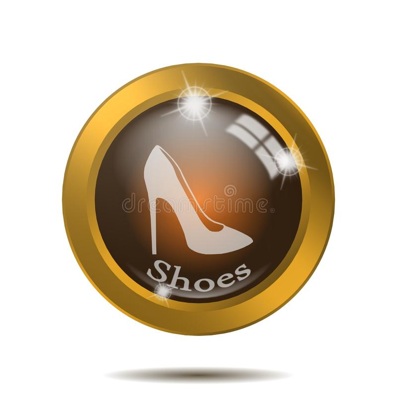 Het pictogram van vrouwenschoenen, teken, illustratie vector illustratie