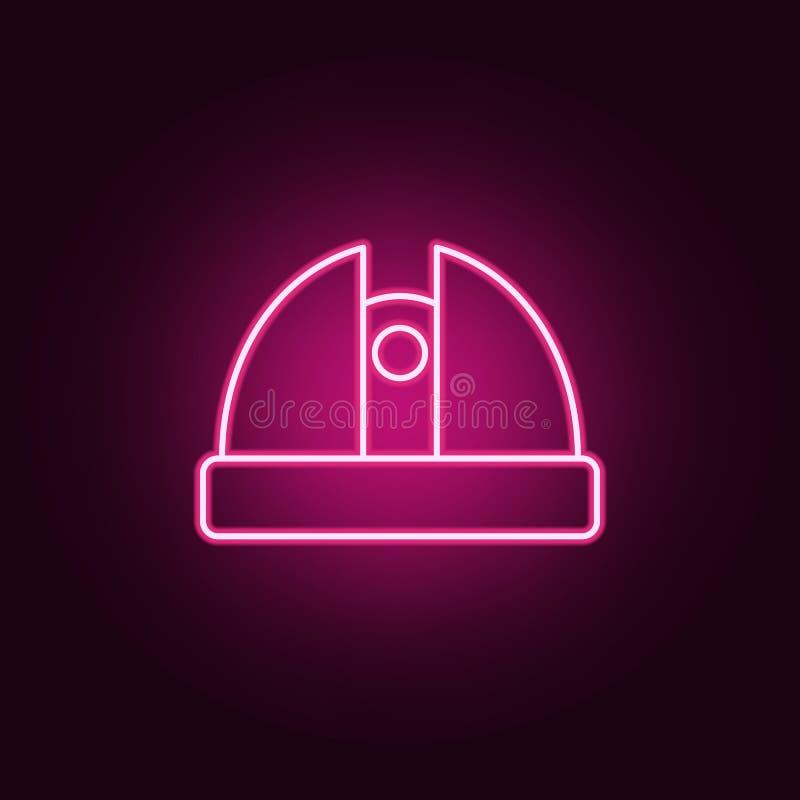 het pictogram van het waarnemingscentrumneon r Eenvoudig pictogram voor websites, Webontwerp, mobiele toepassing, informatiegrafi stock illustratie