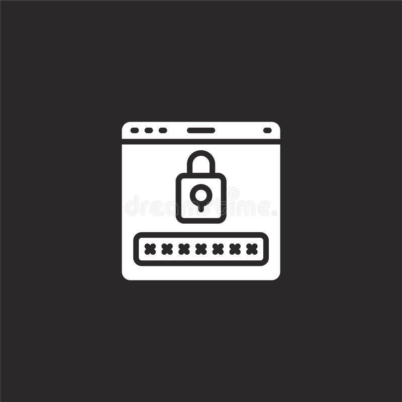 Het pictogram van het wachtwoord Gevuld wachtwoordpictogram voor websiteontwerp en mobiel, app ontwikkeling wachtwoordpictogram v stock illustratie