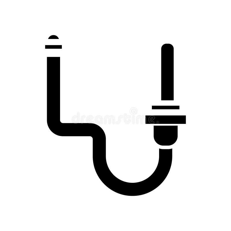 Het pictogram van het watervoorzieningssysteem, vectorillustratie, zwart teken op geïsoleerde achtergrond stock illustratie