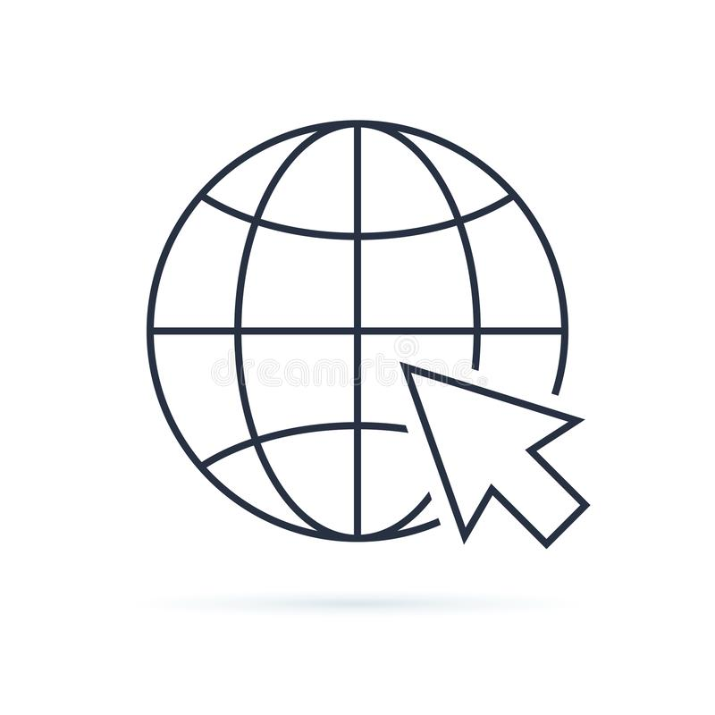 Het pictogram van het Web De paginasymbool van het Webpictogram voor uw Webontwerp Internet-wereldvector De vectorillustratie van vector illustratie