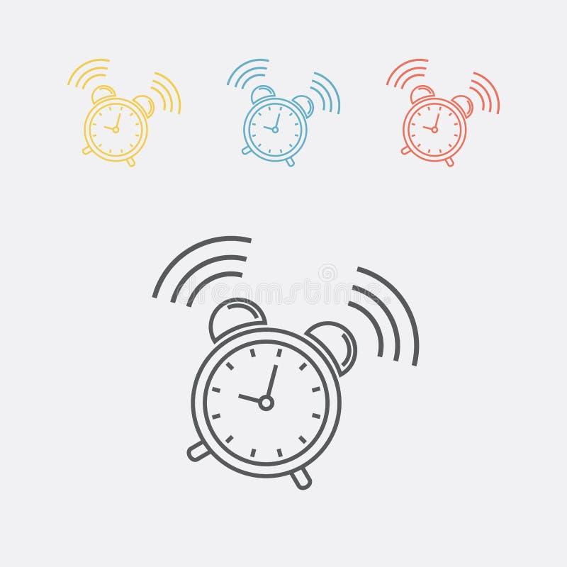 Het pictogram van het wekkerteken Kielzog op alarmsymbool royalty-vrije illustratie
