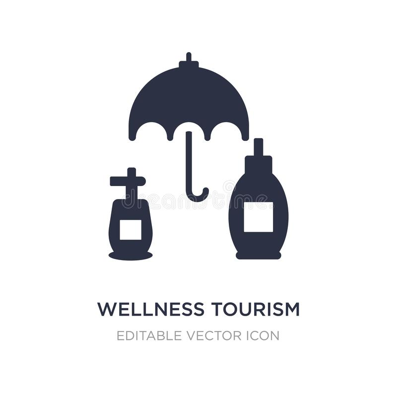 het pictogram van het wellnesstoerisme op witte achtergrond Eenvoudige elementenillustratie van Algemeen concept vector illustratie