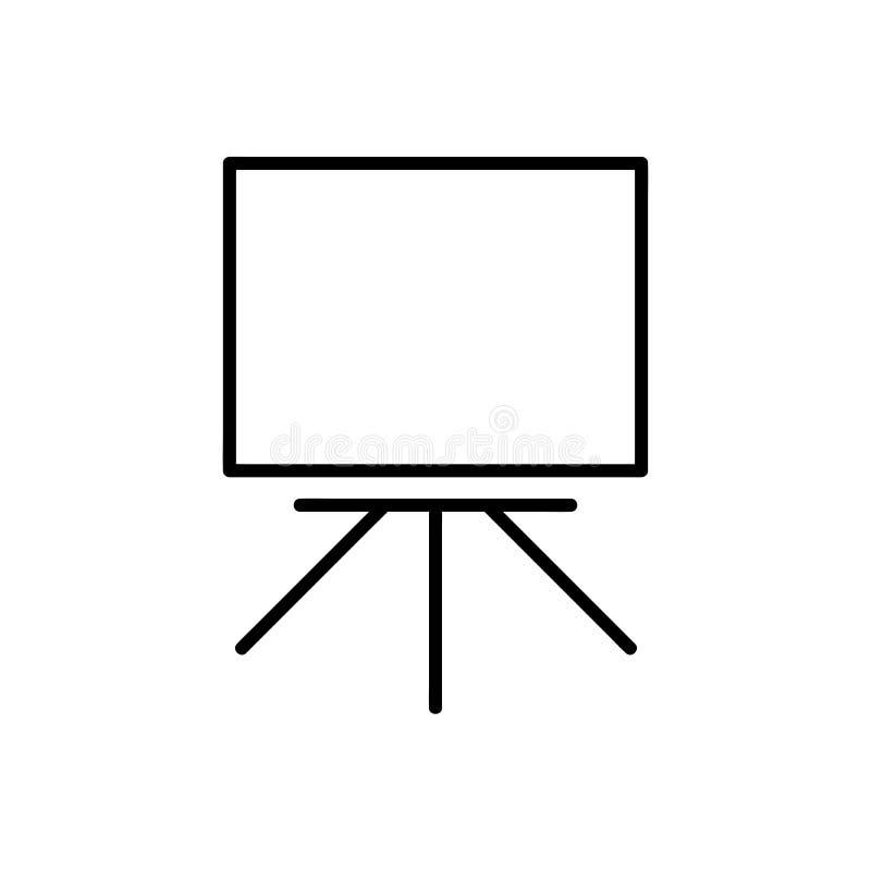 Het pictogram van het Whiteboardoverzicht royalty-vrije illustratie
