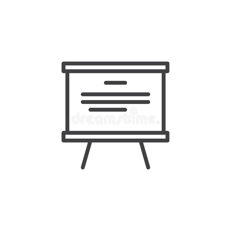 Het pictogram van het Whiteboardoverzicht stock illustratie