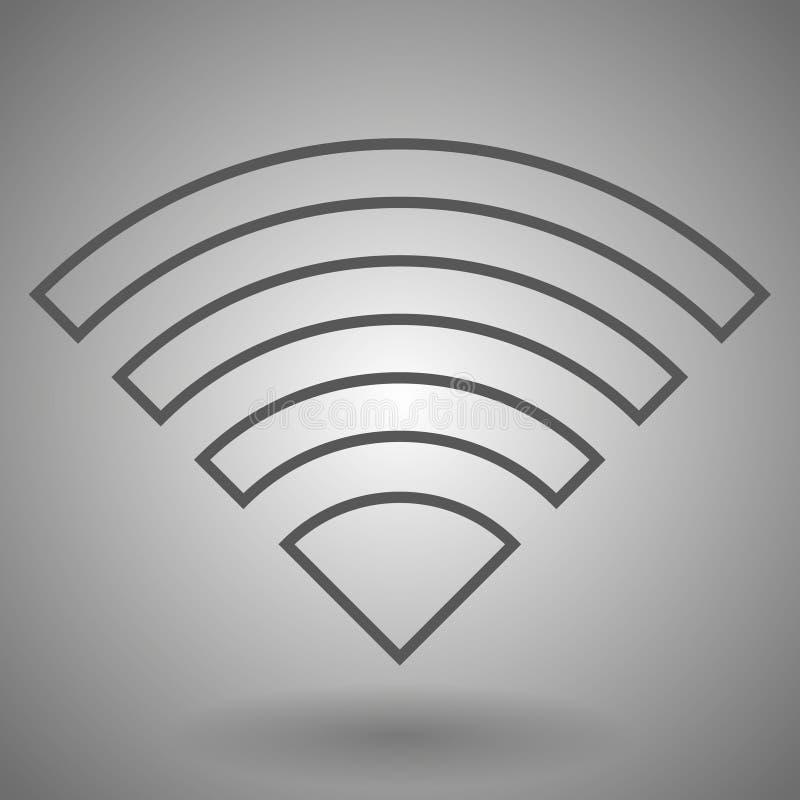 Het pictogram van Wifi Draadloos WiFi-netwerkteken Internet-symbool Lineair overzichtspictogram Vector stock illustratie