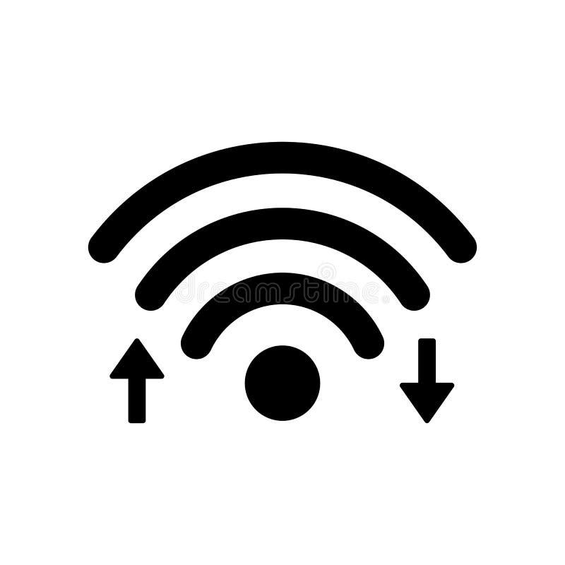 """Het pictogram van Wifiinternet met download en uploadt pijl†""""vector stock illustratie"""