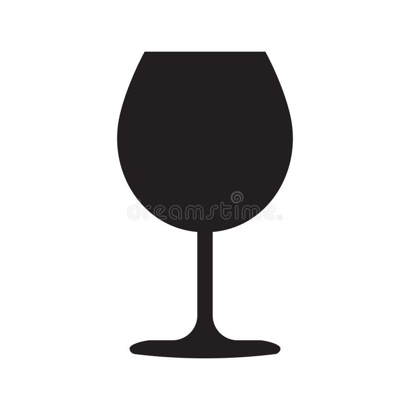 Het pictogram van het wijnglas royalty-vrije illustratie