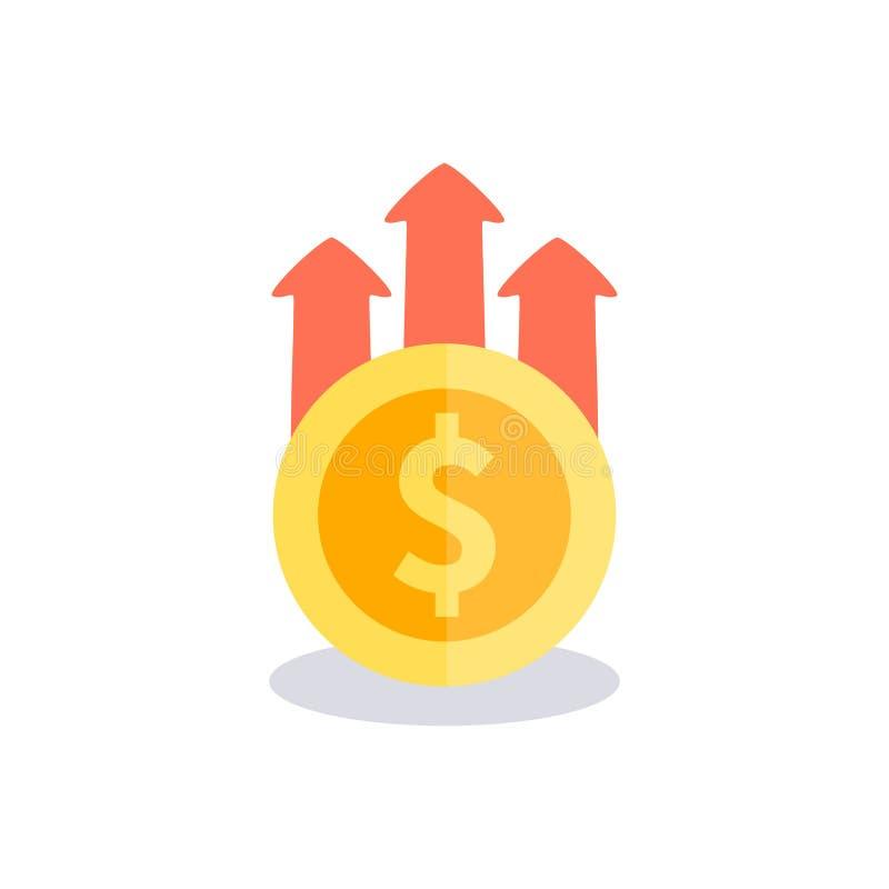 Het pictogram van het winstgeld Vector illustratie vector illustratie