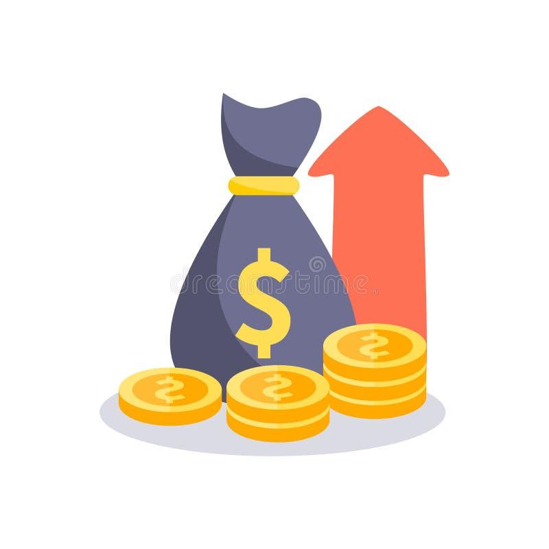 Het pictogram van het winstgeld Vector illustratie stock illustratie