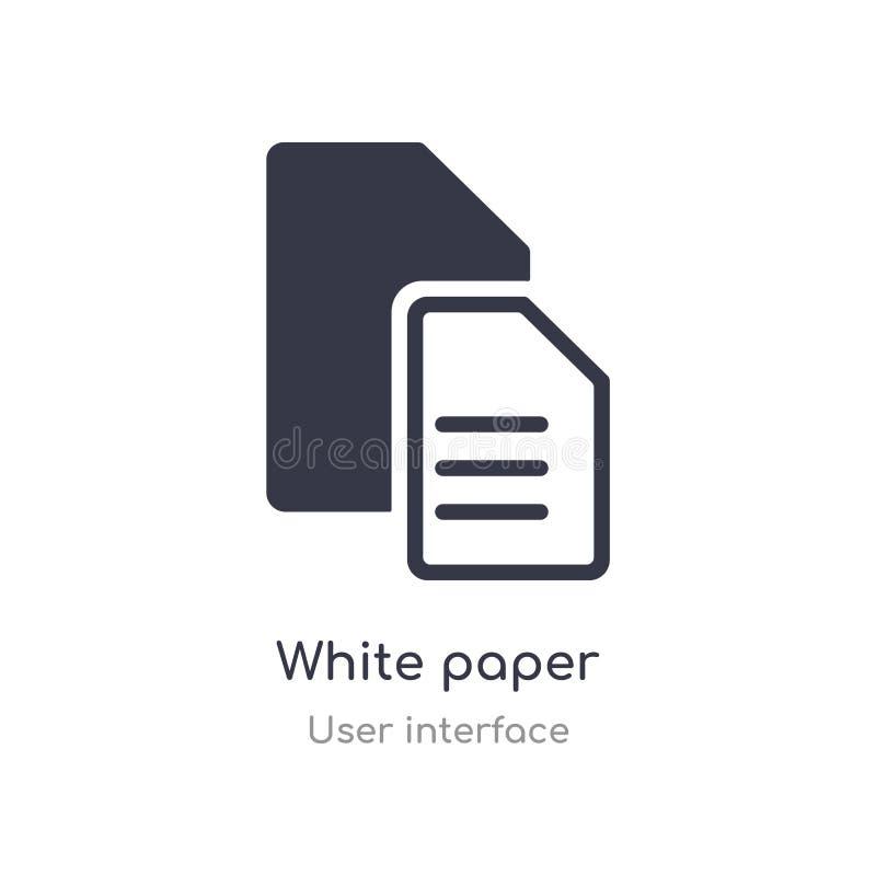 het pictogram van het Witboekoverzicht ge?soleerde lijn vectorillustratie van gebruikersinterfaceinzameling het editable dunne pi vector illustratie