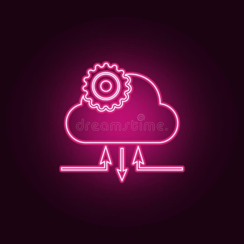 het pictogram van het wolkenbeheer E Eenvoudig pictogram voor websites, Webontwerp, mobiele toepassing, informatie royalty-vrije illustratie