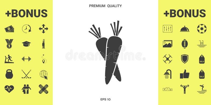 Het pictogram van het wortelensymbool royalty-vrije illustratie