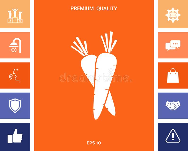 Het pictogram van het wortelensymbool stock illustratie