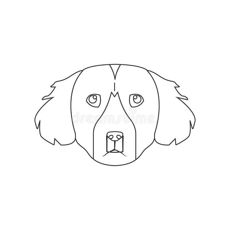 Het pictogram van het zettergezicht Element van hond voor mobiel concept en webtoepassingenpictogram Overzicht, dun lijnpictogram stock illustratie