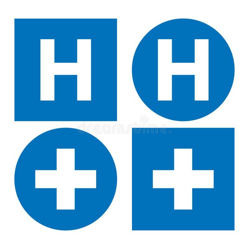 Het pictogram van het het ziekenhuisteken stock illustratie