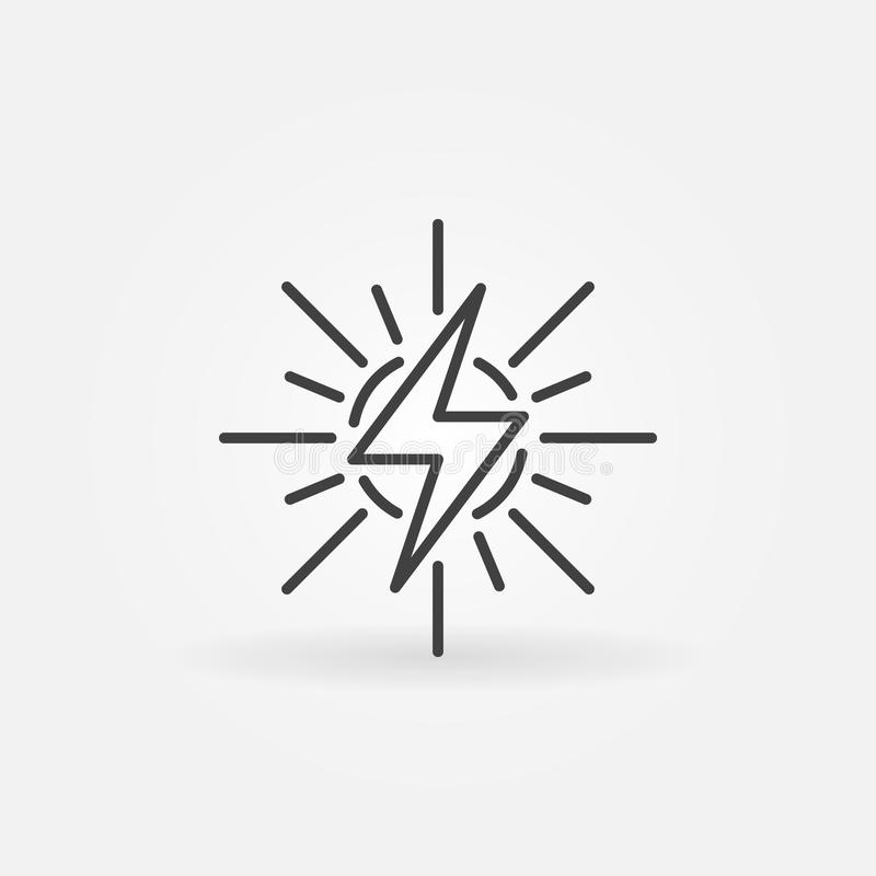 Het pictogram van het zonne-energieoverzicht royalty-vrije illustratie