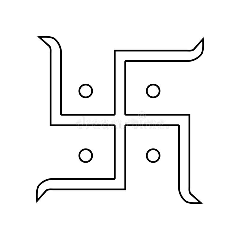 Het pictogram van het zonteken Element van India voor mobiel concept en webtoepassingenpictogram Overzicht, dun lijnpictogram voo royalty-vrije illustratie