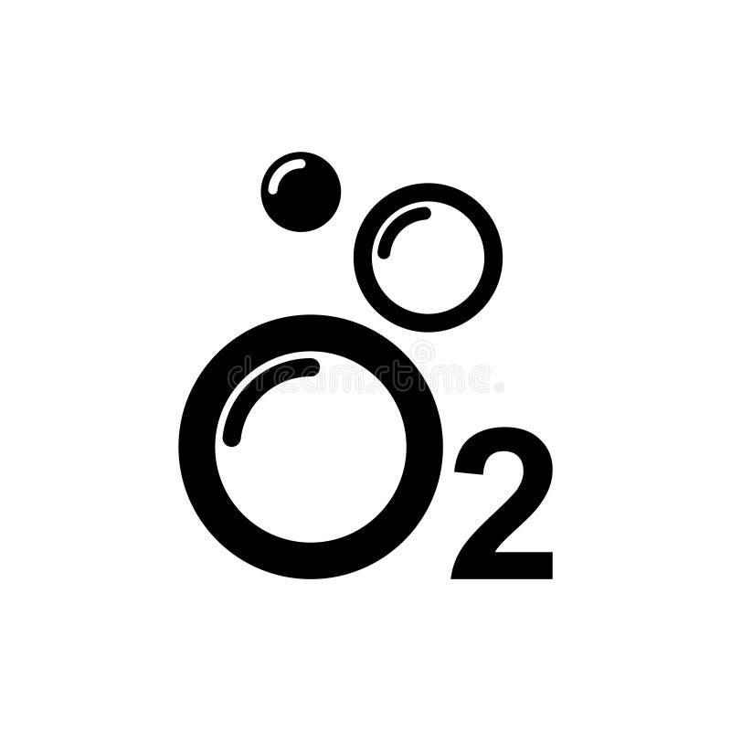 Het Pictogram van zuurstofo2, vectorillustratie royalty-vrije illustratie