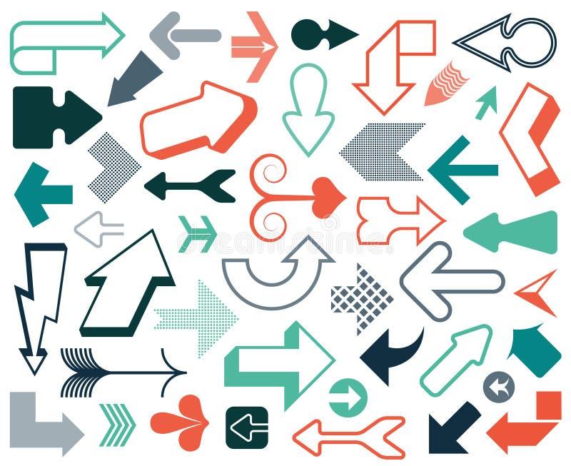 Het pictogram vastgestelde rode kleur van de pijl vector 3d knoop op witte achtergrond Het geïsoleerde symbool van de interfaceli royalty-vrije illustratie