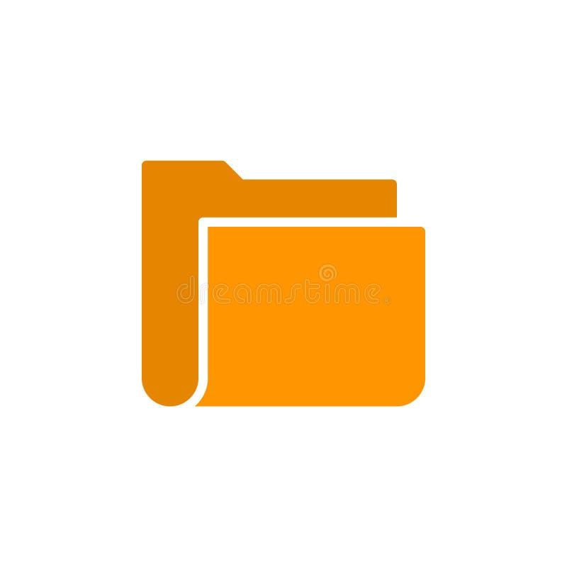 Het pictogram vector, gevuld vlak teken van de dossieromslag, stevig kleurrijk die pictogram op wit wordt geïsoleerd royalty-vrije illustratie