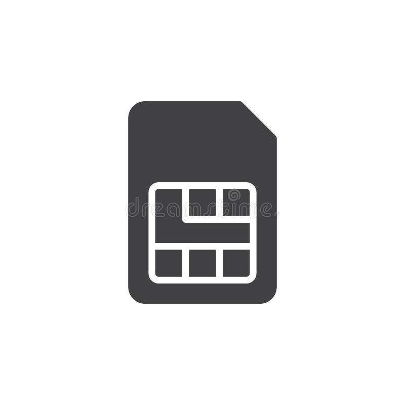Het pictogram vector, gevuld vlak teken van de Simkaart, stevig die pictogram op wit wordt geïsoleerd Symbool, embleemillustratie vector illustratie