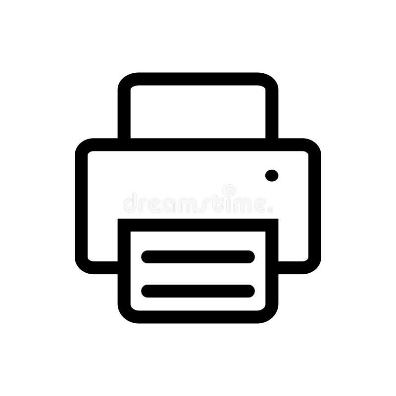 Het pictogram vector van de bedrijfs printerfax administratie automatisering voor uw websiteontwerp, embleem, app, UI Vector illu vector illustratie