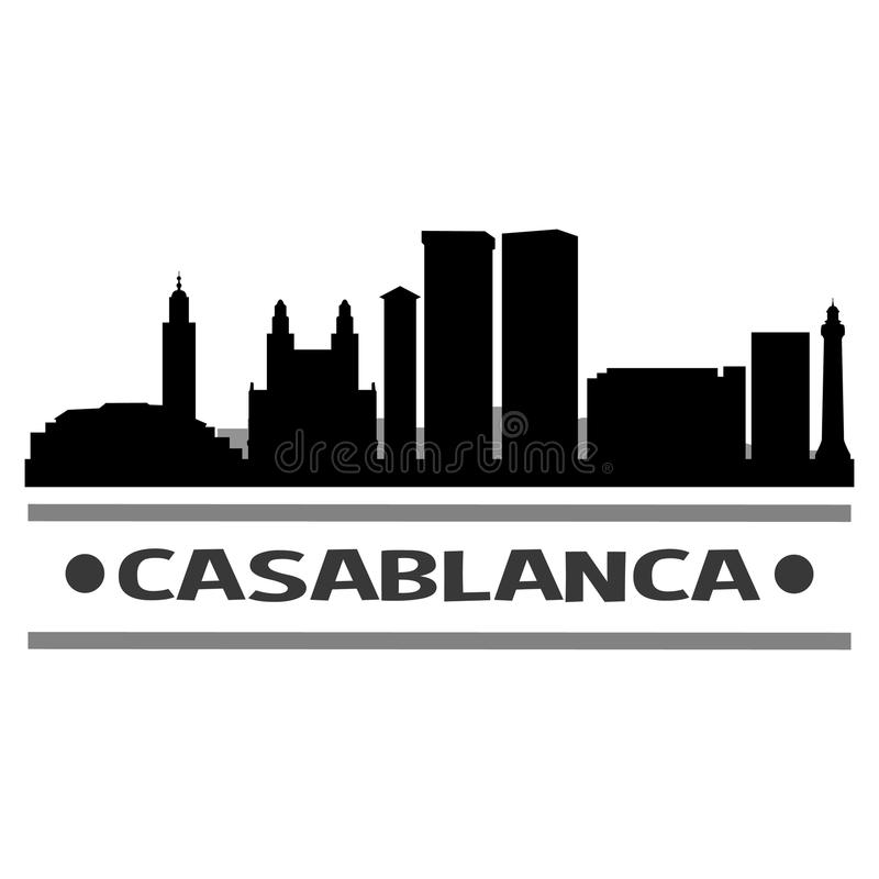 Het Pictogram Vectorart design van Casablanca royalty-vrije illustratie