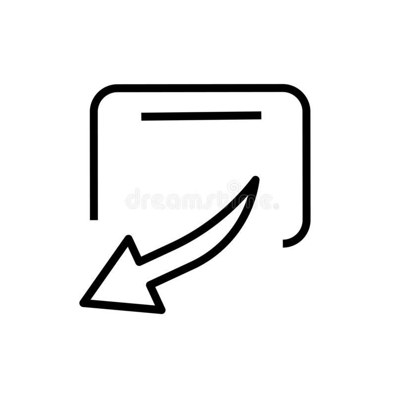 Het pictogram vectordieteken en symbool van het aandeelsymbool op witte achtergrond, het embleemconcept wordt geïsoleerd van het  royalty-vrije illustratie