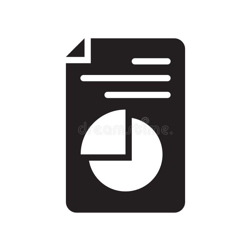 Het pictogram vectordieteken en symbool van het cirkeldiagramdossier op witte bac wordt geïsoleerd stock illustratie