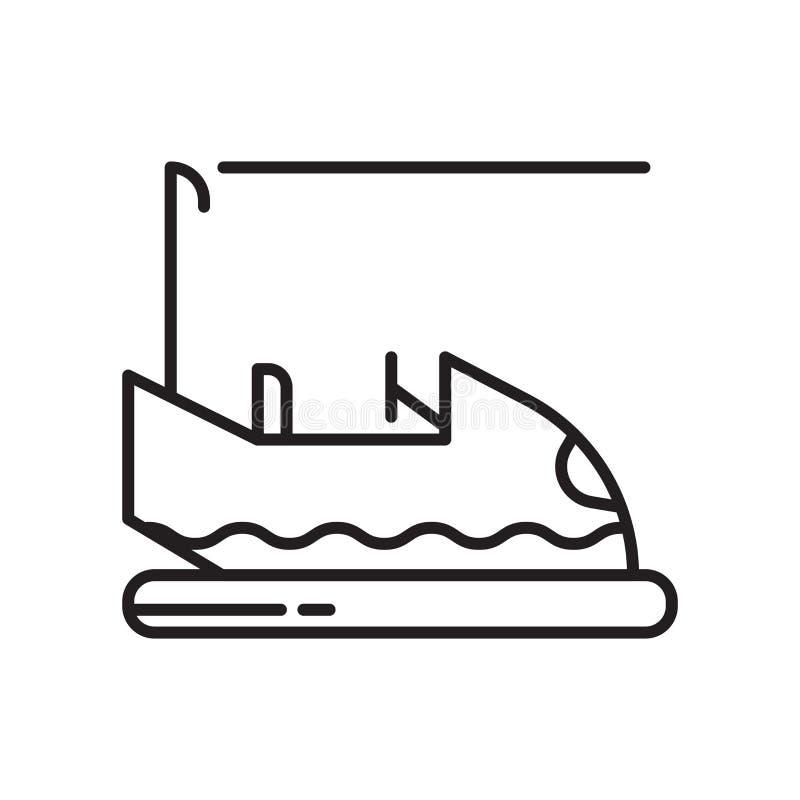 Het pictogram vectordieteken en symbool van de bumperauto op witte achtergrond, het embleemconcept wordt geïsoleerd van de Bumper stock illustratie