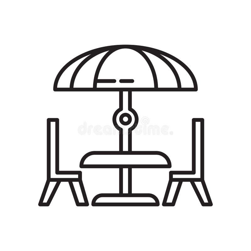 Het pictogram vectordieteken en symbool van de dinerlijst op witte achtergrond, het embleemconcept wordt geïsoleerd van de Dinerl stock illustratie