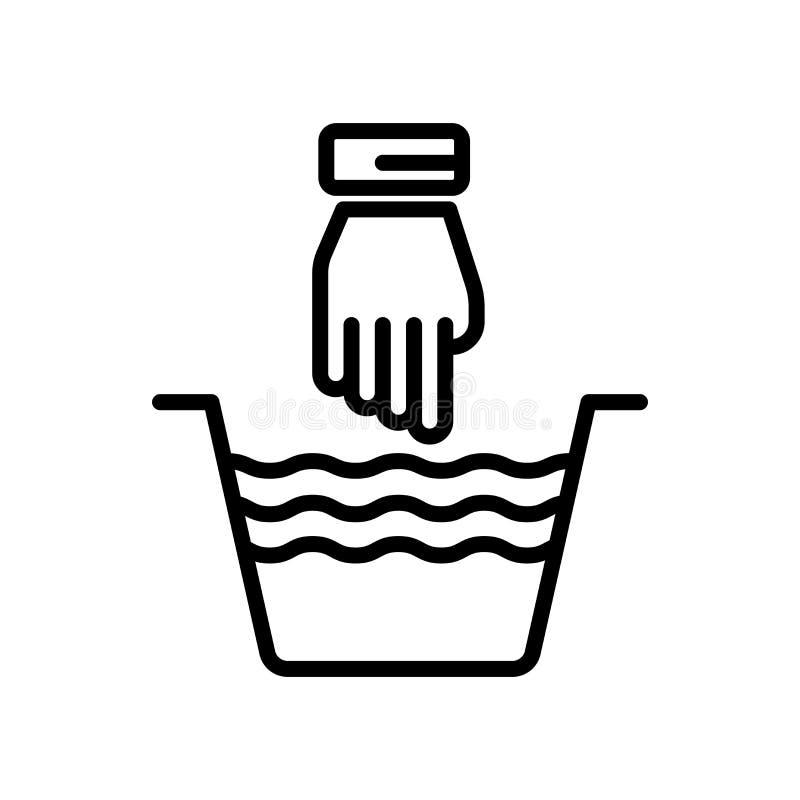 Het pictogram vectordieteken en symbool van de handwas op witte backgrou wordt geïsoleerd stock illustratie