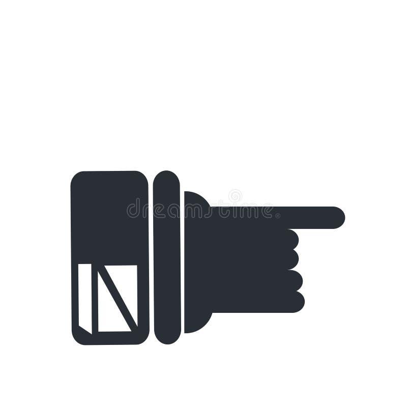 Het pictogram vectordieteken en symbool van de handwijzer op witte achtergrond, het embleemconcept wordt geïsoleerd van de Handwi stock illustratie