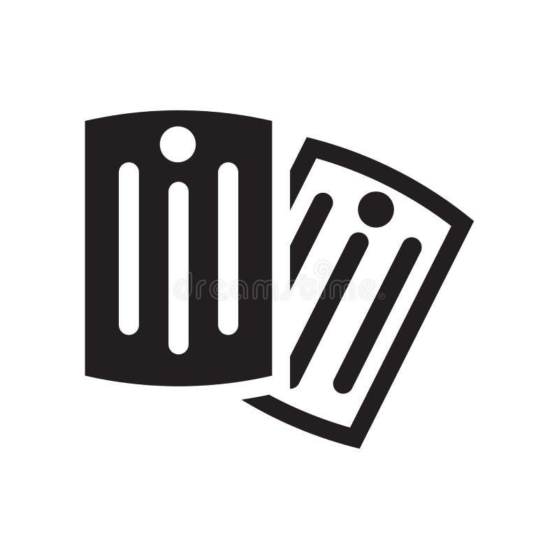 Het pictogram vectordieteken en symbool van de hondmarkering op witte achtergrond wordt geïsoleerd vector illustratie