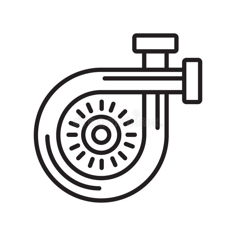 Het pictogram vectordieteken en symbool van de luchtfilter op witte backgro wordt geïsoleerd vector illustratie