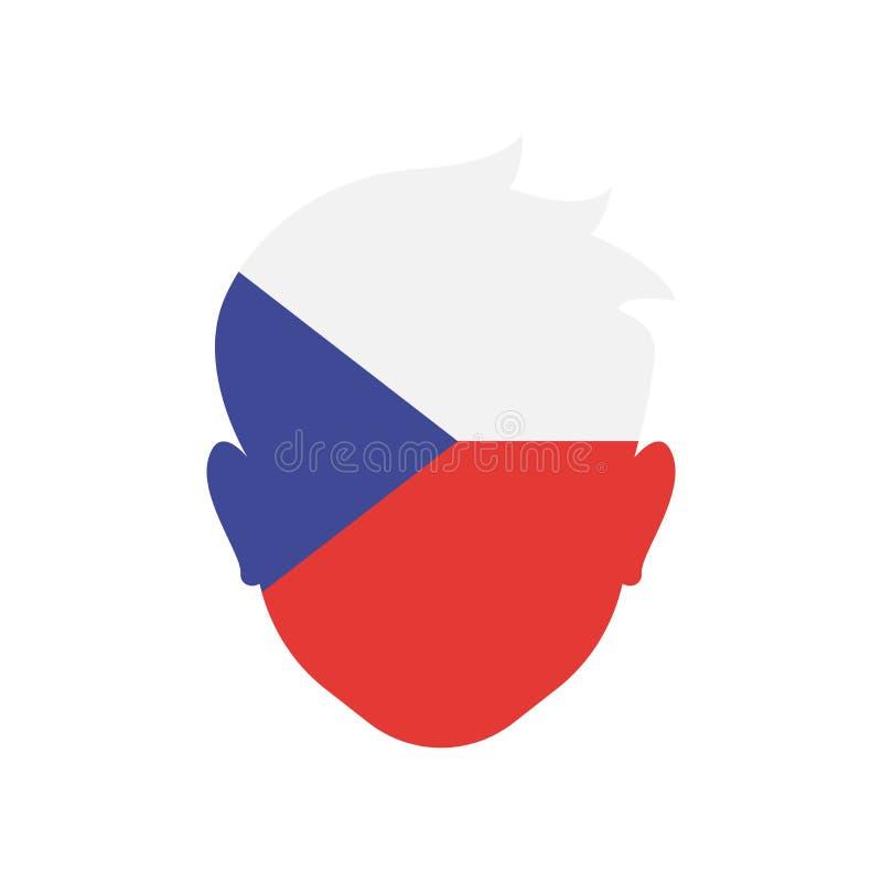 Het pictogram vectordieteken en symbool van de Tsjechische republiek op witte bac wordt geïsoleerd royalty-vrije illustratie
