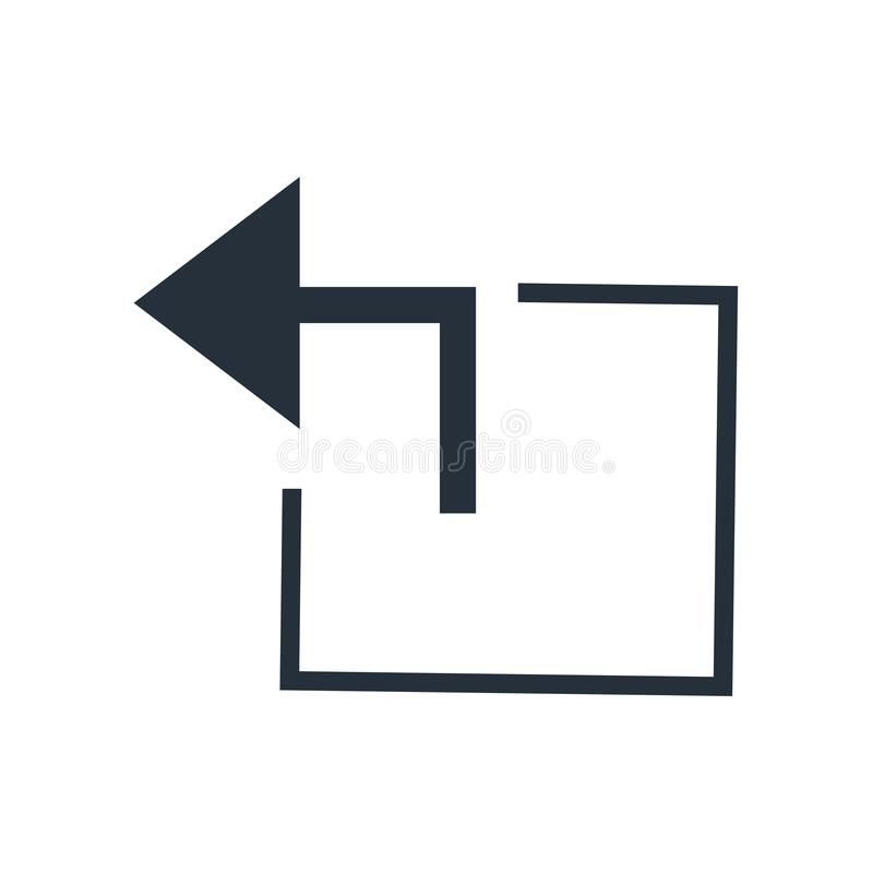 Het pictogram vectordieteken en symbool van de venster achterknoop op witte achtergrond, het embleemconcept wordt geïsoleerd van  stock illustratie
