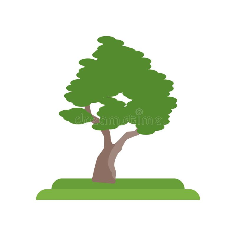 Het pictogram vectordieteken en symbool van de zwarte Kersenboom op wit wordt geïsoleerd royalty-vrije illustratie