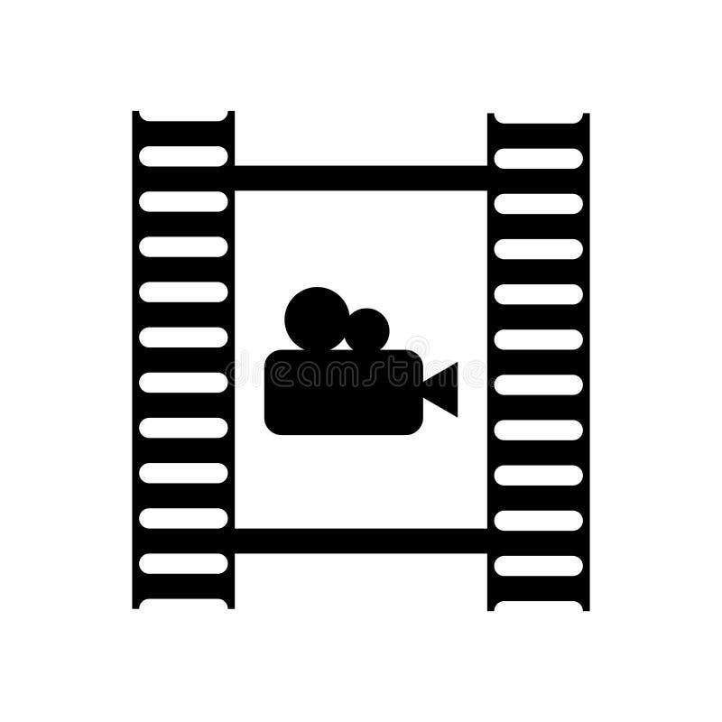 Het pictogram vectordieteken en symbool van het filmbroodje op witte backgrou wordt geïsoleerd stock illustratie