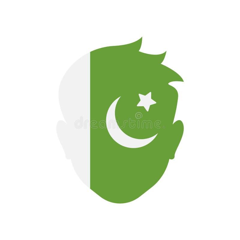 Het pictogram vectordieteken en symbool van Pakistan op witte backgroun wordt geïsoleerd royalty-vrije illustratie