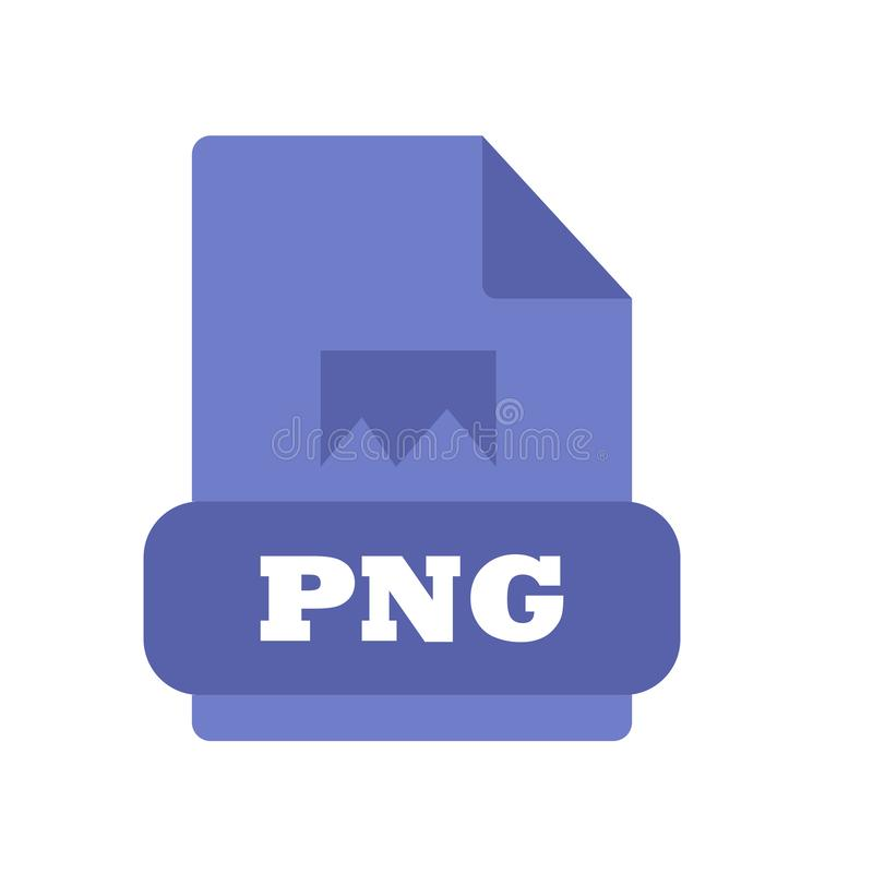 Het pictogram vectordieteken en symbool van PNG op witte achtergrond, het embleemconcept wordt geïsoleerd van PNG royalty-vrije illustratie