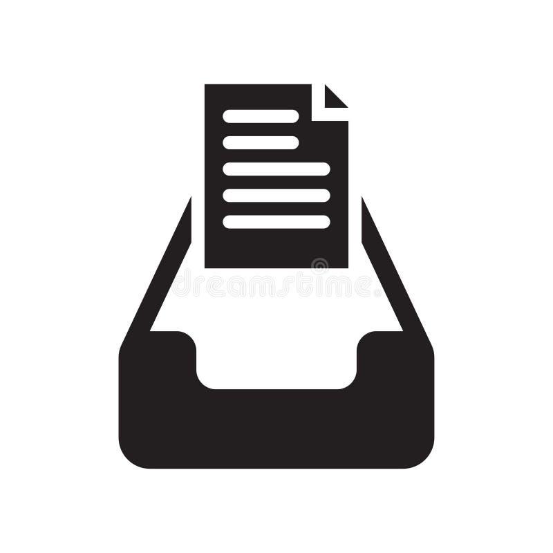 Het pictogram vectordieteken en symbool van postinbox op witte achtergrond, het embleemconcept wordt geïsoleerd van Postinbox royalty-vrije illustratie