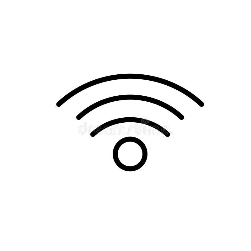 Het pictogram vectordieteken en symbool van het verbindingssignaal op witte achtergrond, het embleemconcept wordt geïsoleerd van  vector illustratie