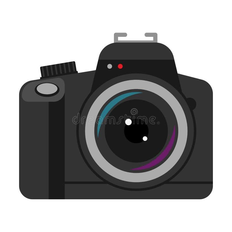 Het pictogram vectorillustratie van de camera professionele fotografie royalty-vrije illustratie